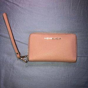Michael Kors leather wristlet wallet